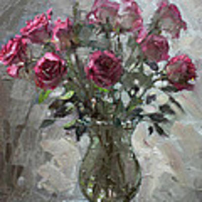Roses For Viola Poster by Ylli Haruni