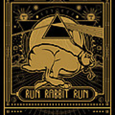 Run Rabbit Run Poster by Penny Collins