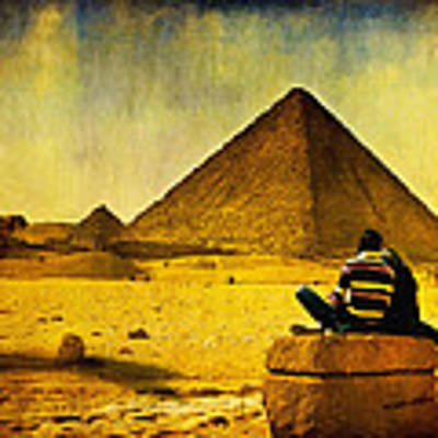 See The Pyramids - Egyptian Adventure Poster by Mark E Tisdale