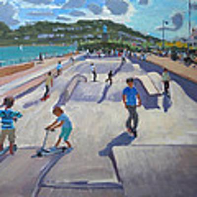 Skateboaders  Teignmouth Poster