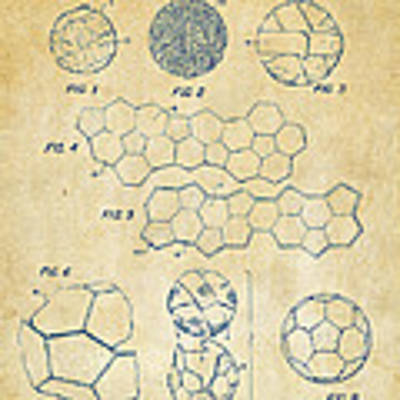 Soccer Ball Construction Artwork - Vintage Poster