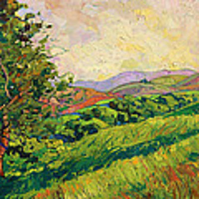 Spring Greens Poster by Erin Hanson