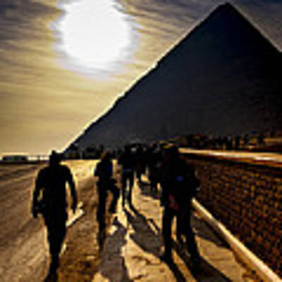 Standing Before The Great Pyramid In Egypt Poster by Mark E Tisdale