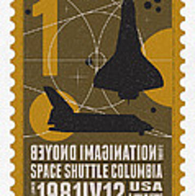 Starschips 01-poststamp - Spaceshuttle Poster