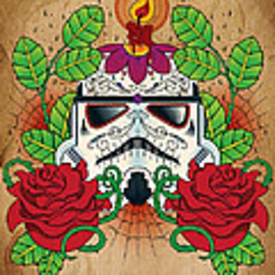 Storm Trooper Sugar Skull Poster