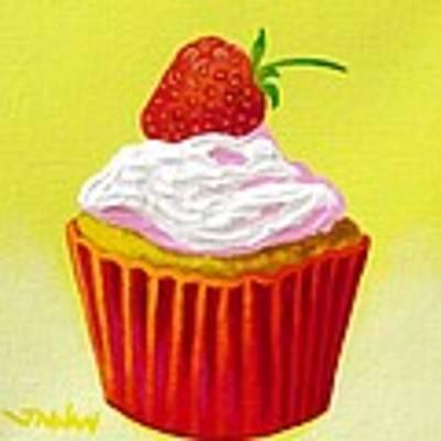Strawberry Cupcake Poster