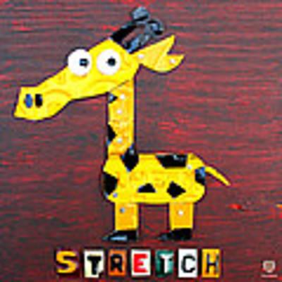 Stretch The Giraffe License Plate Art Poster