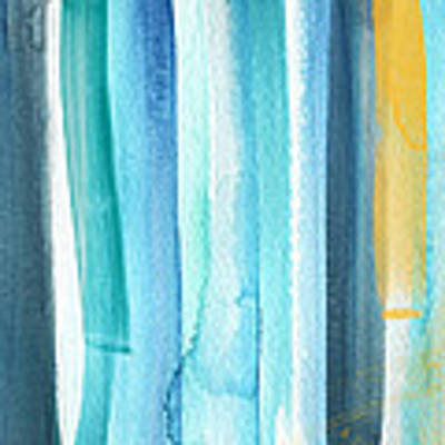 Summer Surf- Abstract Painting Poster