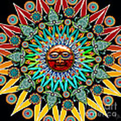 Sun Shaman Poster by Christopher Beikmann