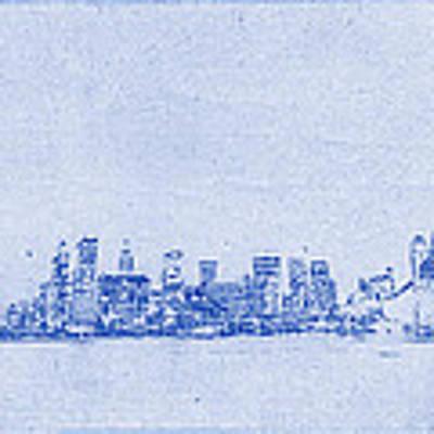 Sydney Skyline Blueprint Poster