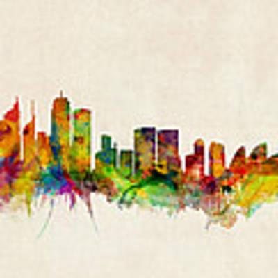 Sydney Skyline Poster