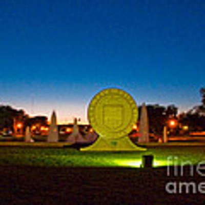 Texas Tech Seal At Night Poster by Mae Wertz