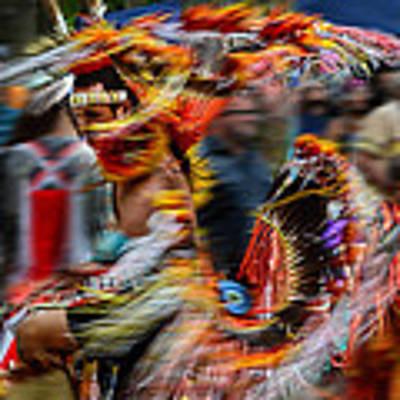 Their Spirit Is Among Us - Nanticoke Powwow Delaware Poster by Kim Bemis