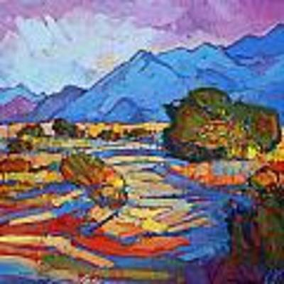 Through The Blue Poster by Erin Hanson