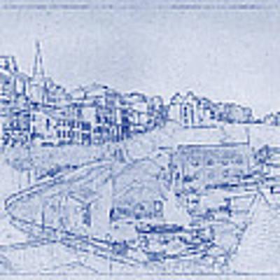 Trenby Bay Blueprint Poster
