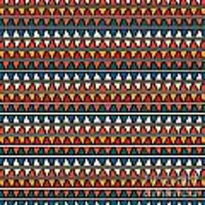 Triangle Seamless Tile Pattern Poster