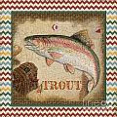 Trout-chevron Poster by Jean Plout