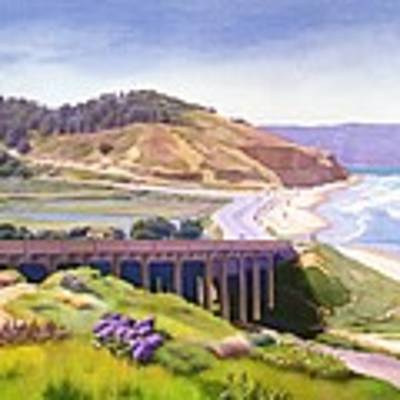 View Of Torrey Pines Poster by Mary Helmreich