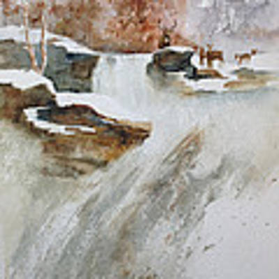 Winter Woods Poster by Judy Fischer Walton