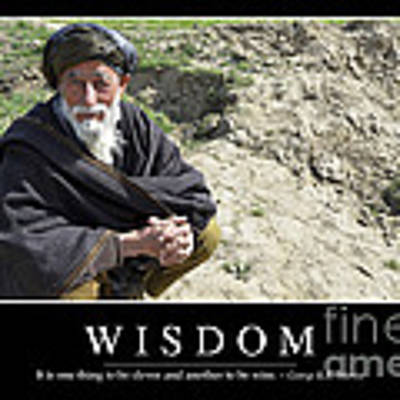 Wisdom Inspirational Quote Poster by Stocktrek Images