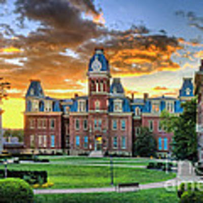 Woodburn Hall Evening Sunset Poster by Dan Friend