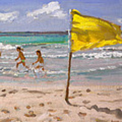 Yellow Flag  Barbados Poster by Andrew Macara