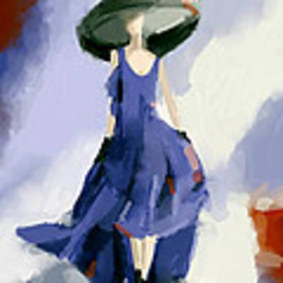 Yohji Yamamoto Fashion Illustration Art Print Poster by Beverly Brown