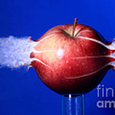 Bullet Hitting An Apple Poster