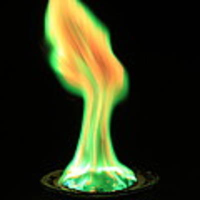Copperii Chloride Flame Test Poster