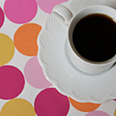 Coffee And Dots Poster by Kim Fearheiley