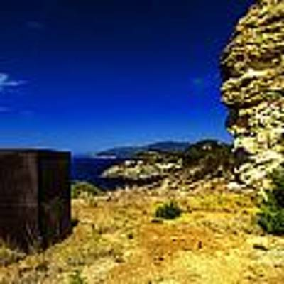 Elba Island - Rusty Iron Cube Landscape - Ph Enrico Pelos Poster by Enrico Pelos