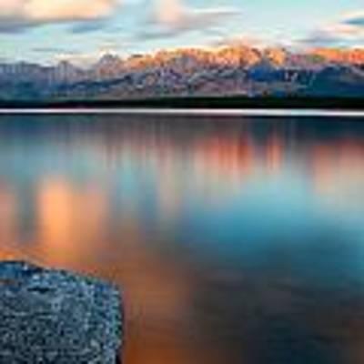 Lake Evening 1 Poster by David Buhler