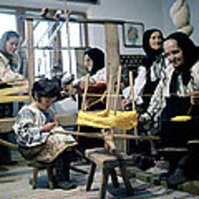 Making Wool Clothing In Vrancea Romania Poster by Emanuel Tanjala