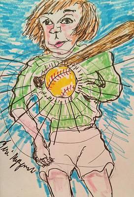 Play Ball Poster by Geraldine Myszenski