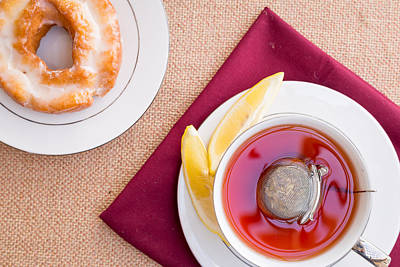 Breakfast With Pastries, And Hot Tea With Lemon #1 Poster