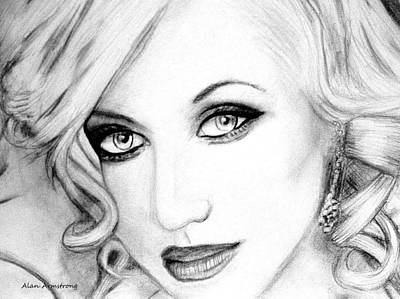 # 2 Christina Aguilera Portrait  Poster by Alan Armstrong