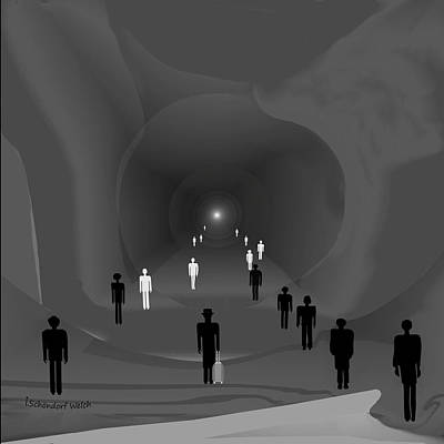 249 - The Light At The End Of The Tunnel   Poster by Irmgard Schoendorf Welch