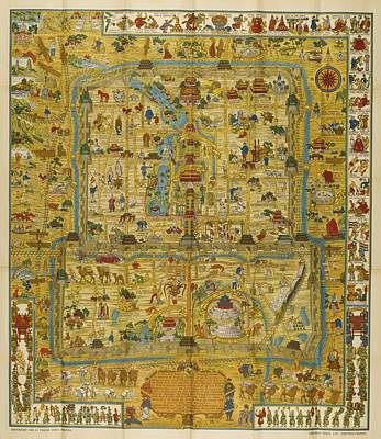 A Map And History Of Peiping Poster by  Frank Dorn