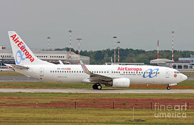 Poster featuring the photograph  Aireuropa - Boeing 737-800 - Ec-kcg  by Amos Dor