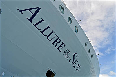Allure Of The Seas - Hull Poster by Mr Snappy