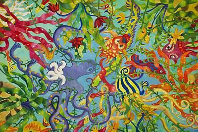 Ocean Of Colors Poster by Art Spectrum