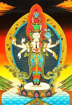 Bodhisattva Of Compassion Poster by Lanjee Chee