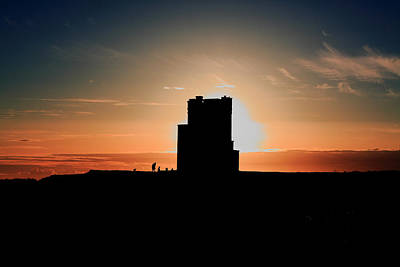 Brien's Tower At Sunset Poster by Aidan Moran