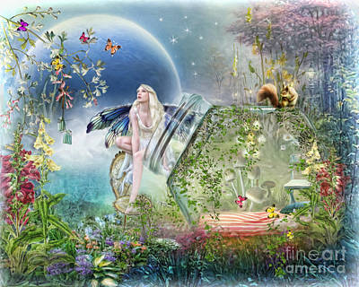 Poster featuring the digital art  Butterfly Fairy by Trudi Simmonds