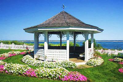 Cape Cod Gazebo In Summertime Poster