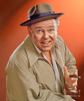 Carroll O'connor As Archie Bunker Poster by Stephen Shub