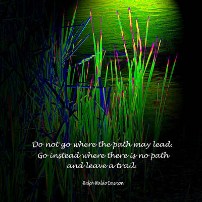 Cattail Reeds With Inspirational Text Poster by Donald  Erickson
