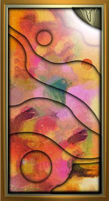 '' Days End - Setting Sun Over Mesasauga Canyon '' Poster