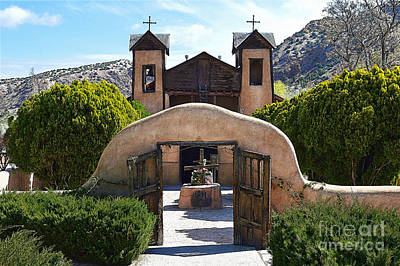 El Santuario De Chimayo In New Mexico Poster by Catherine Sherman