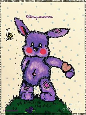 Epilepsy Awareness Bunny Poster